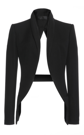 Medium haider ackermann black open back blazer