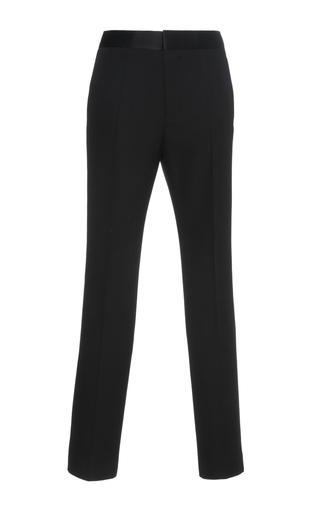 Medium haider ackermann black classic wool trousers