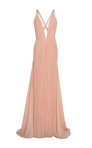 Medium haider ackermann pink plisse wrap a line dress