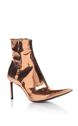 Medium haider ackermann gold pointed toe copper boot