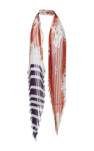 Medium haider ackermann orange plisse knot scarf 2