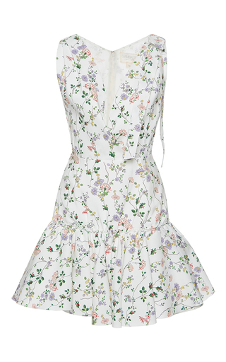 Medium giambattista valli print flounced hem mini dress