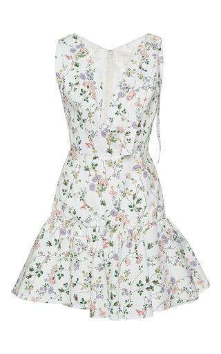 Medium giambattista valli print flounced hem mini dress
