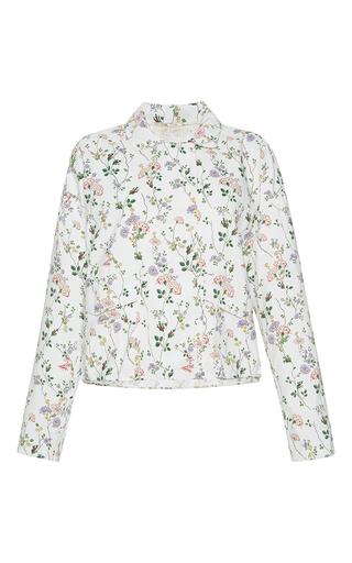 Medium giambattista valli print floral print collared jacket