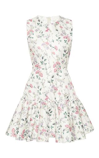 Medium giambattista valli print floral print trumpet mini dress