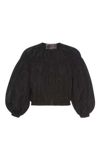 Medium giambattista valli black balloon sleeve bomber jacket