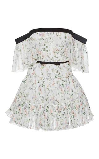Medium giambattista valli print floral print off the shoulder mini dress