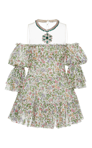 Medium giambattista valli print off the shoulder floral print mini dress