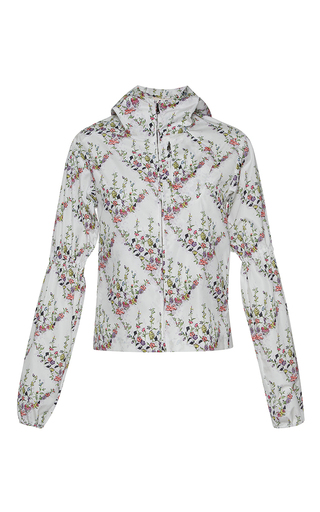 Medium giambattista valli print puffed sleeve floral print jacket