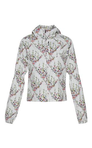 Medium giambattista valli print puffed sleeve floral print jacket
