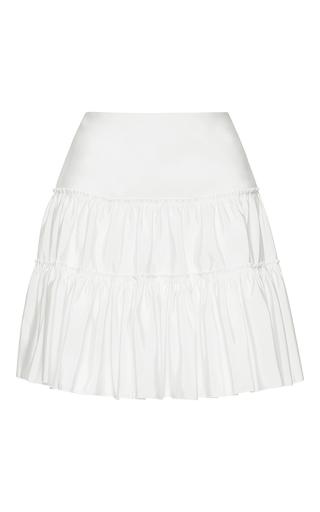 Medium giambattista valli white high waist pleated mini skirt