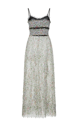 Medium giambattista valli print floral embroidered column maxi dress