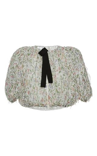Medium giambattista valli print floral embroidered silk jacket