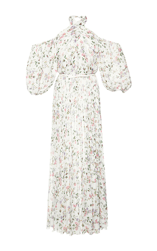 Medium giambattista valli print wrapped halter maxi dress