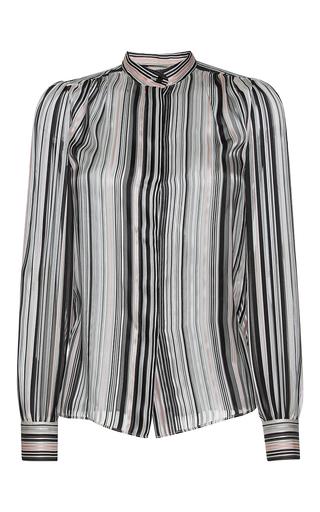 Medium giambattista valli stripe mandarin collared striped blouse