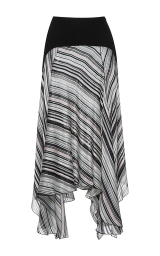 Medium giambattista valli stripe high waist striped handkerchief skirt