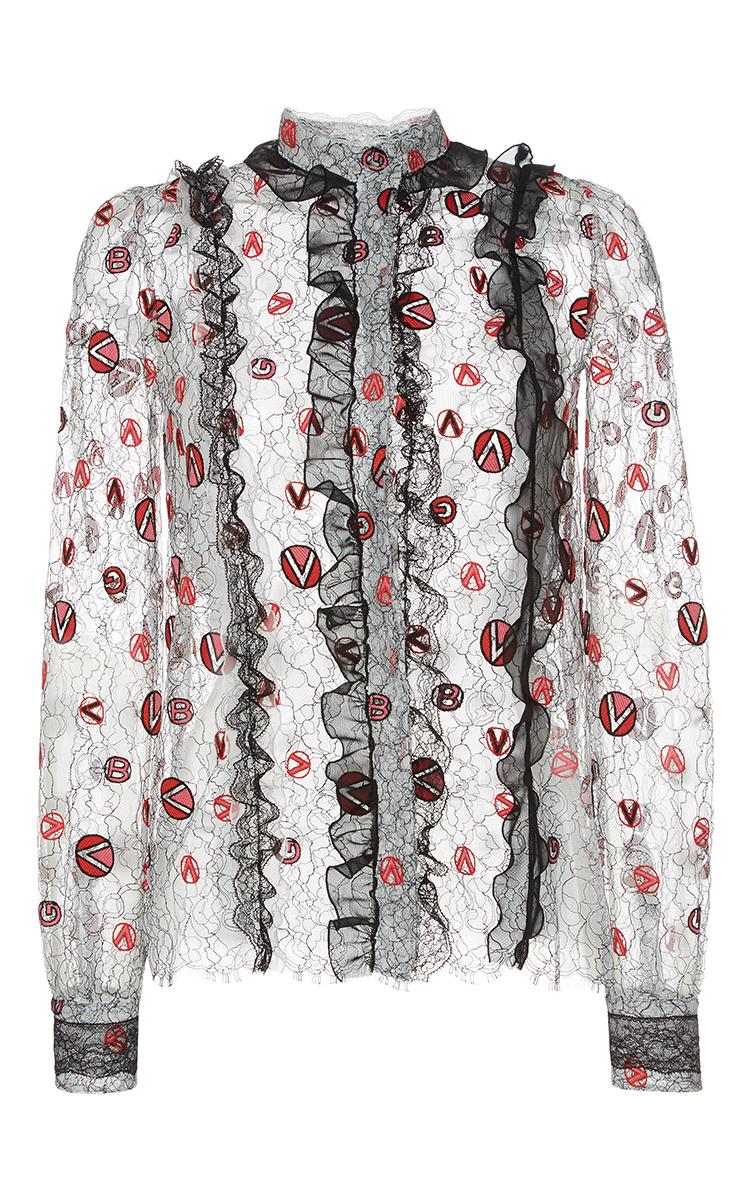 Fake Online Lace Cotton Blouse Giambattista Valli Buy Online Outlet Limited Edition Online Buy Cheap Outlet Store Browse Sale Online EgyRx38