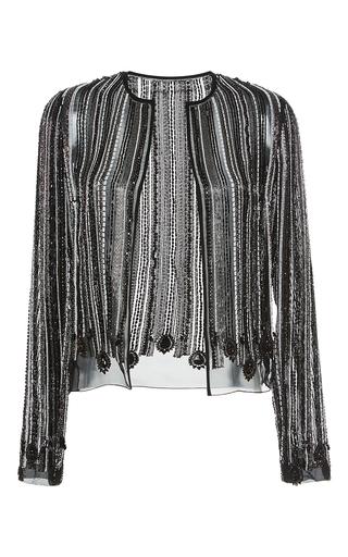 Medium giambattista valli black hand beaded evening jacket