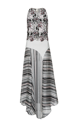 Medium giambattista valli multi asymmetrical hem floral embroidered dress