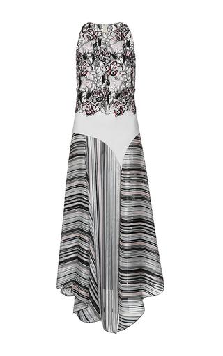 Medium giambattista valli multi asymmetrical hem floral embroidered dress