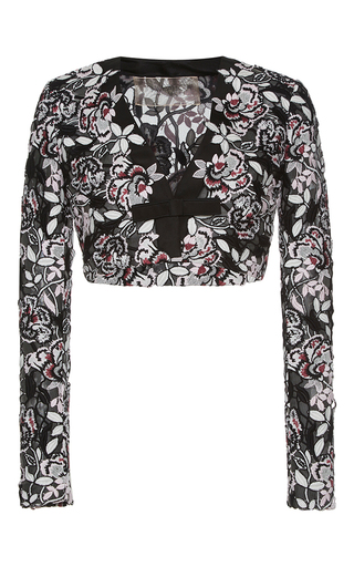 Medium giambattista valli multi embroidered floral cropped jacket