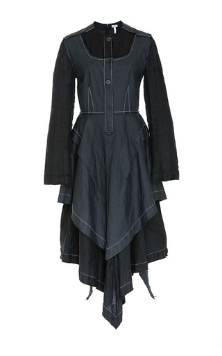 Medium loewe black contrast stitching dress