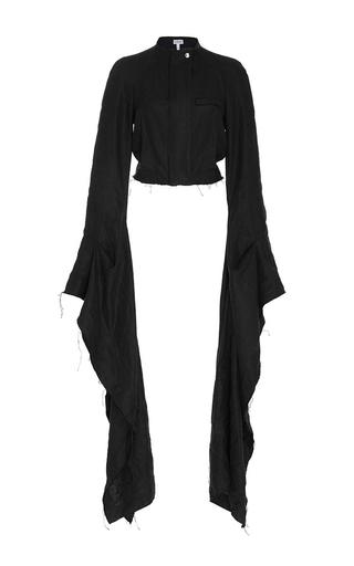 Medium loewe black cascading flared sleeve jacket