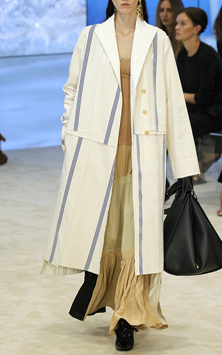 Medium loewe off white stripe long coat