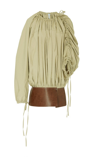 Medium loewe tan baloon leather belt top
