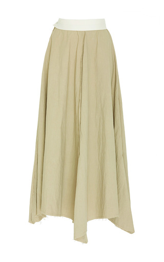 Medium loewe tan a line cotton skirt