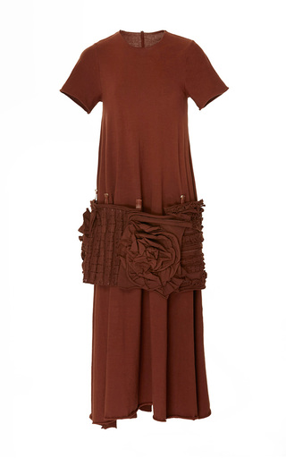Medium loewe brown fantasy belt dress