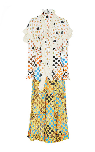 Medium loewe multi printed shawl dress