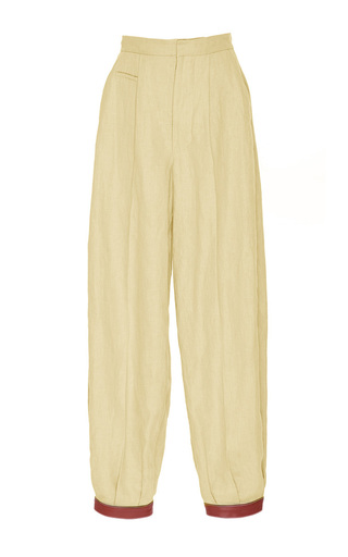 Medium loewe tan leather cuff pants