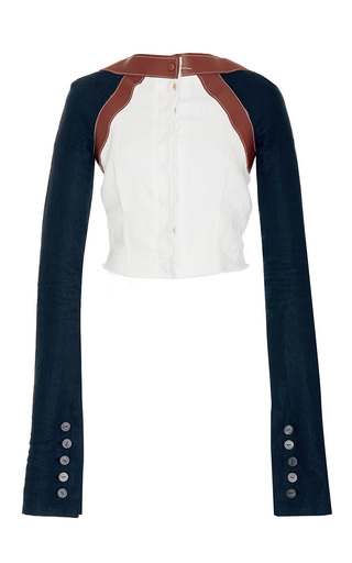 Medium loewe multi leather embellished cardigan
