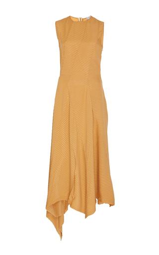 Medium loewe orange asymmetric sleeveless dress