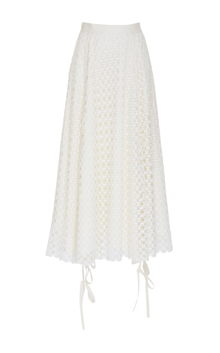 Medium loewe white guipure skirt