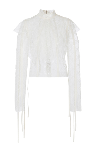 Medium loewe white lace ruffled top