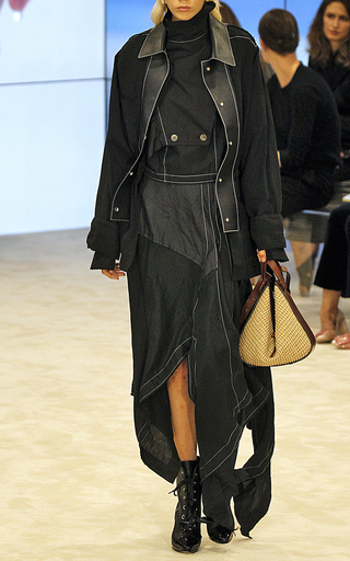 Medium loewe black asymmetrical skirt