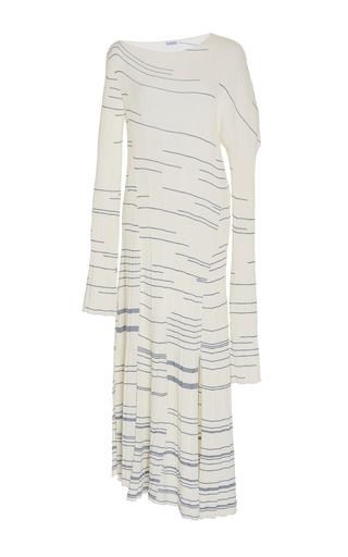 Medium loewe stripe striped knit long dress