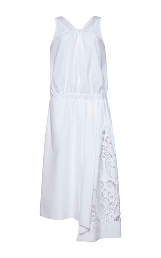 Medium no 21 white anica midi length cotton dress