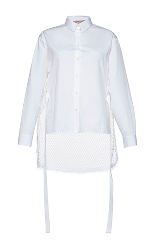 Medium no 21 white lucia cotton poplin shirt
