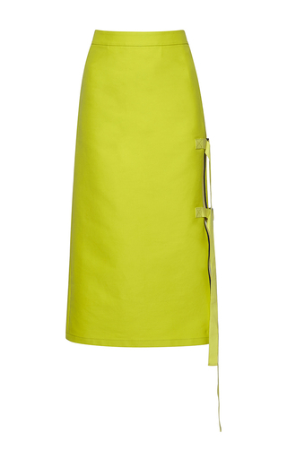 Medium no 21 yellow gala pencil skirt