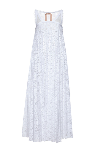Medium no 21 white adelita pleated lace dress