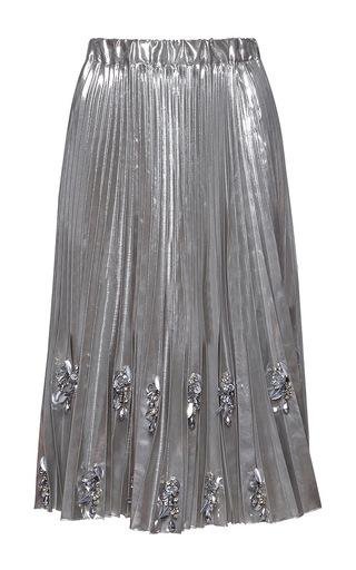 Medium no 21 silver helena pleated midi skirt