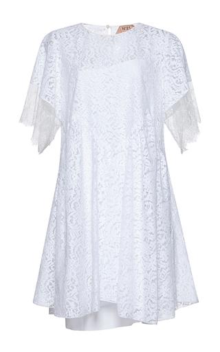 Medium no 21 white consuelo bell sleeve mini dress