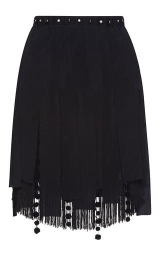 Medium no 21 black gloria pleated fringe skirt