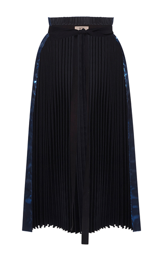 Medium no 21 blue yanne metallic pleated belt