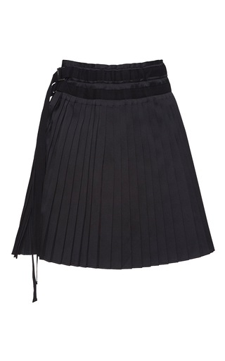 Medium no 21 black helena pleated mini skirt