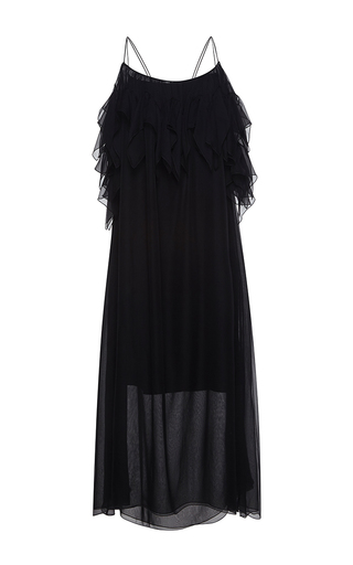 Medium no 21 black alicia full length chiffon dress
