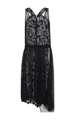 Medium no 21 black anica midi length lace dress